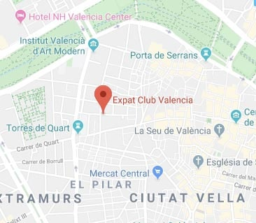 Expat Hub Valencia google map position